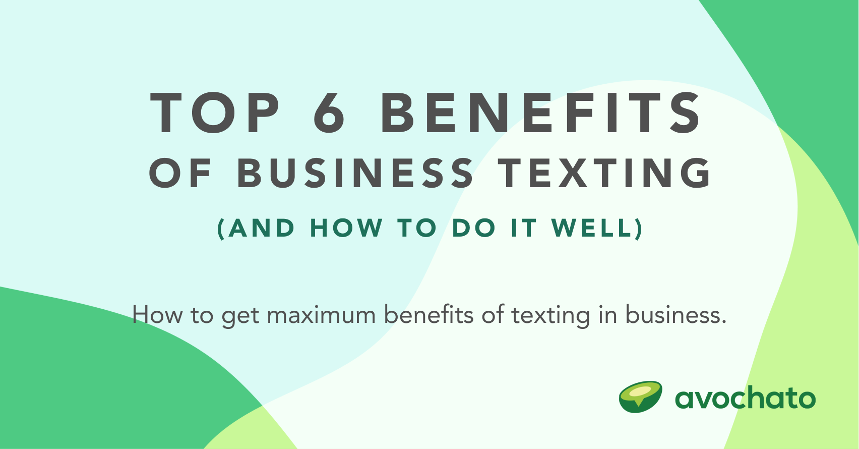 benefits of texting in business