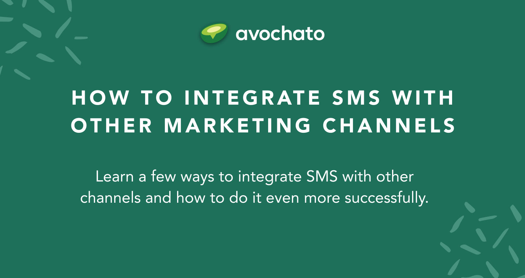 integrate sms with other marketing channels