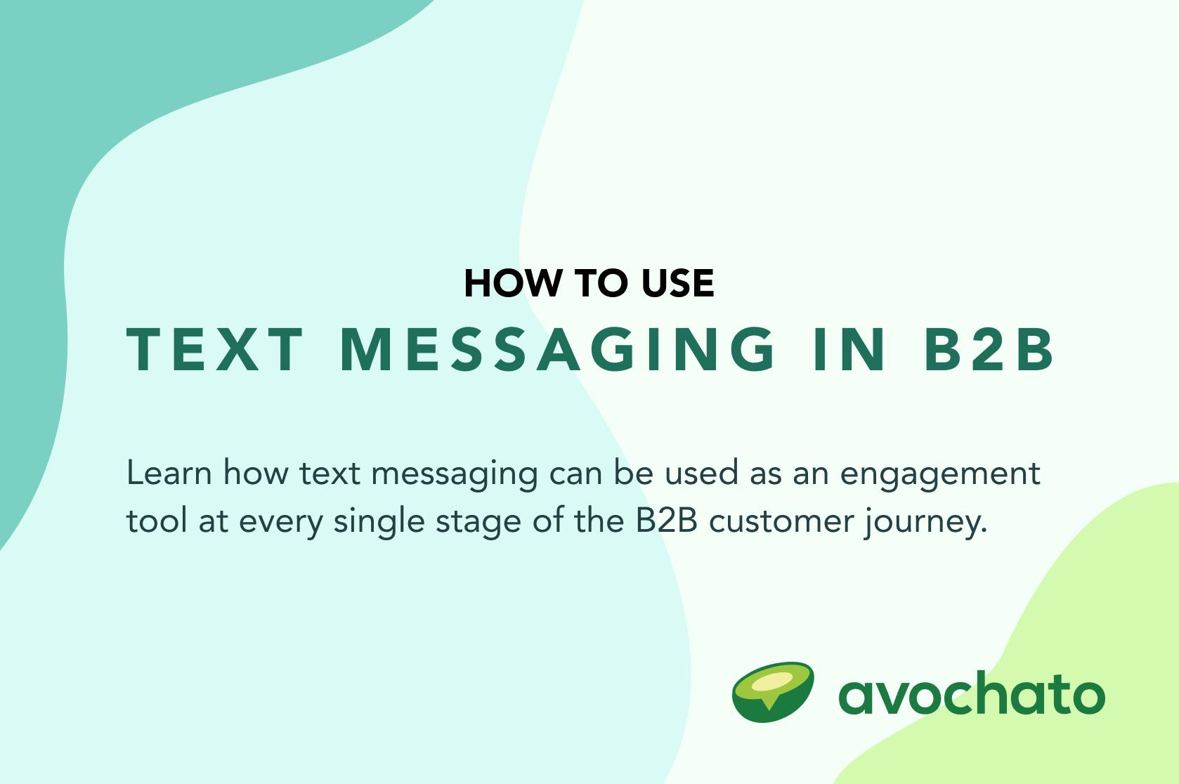sms in b2b