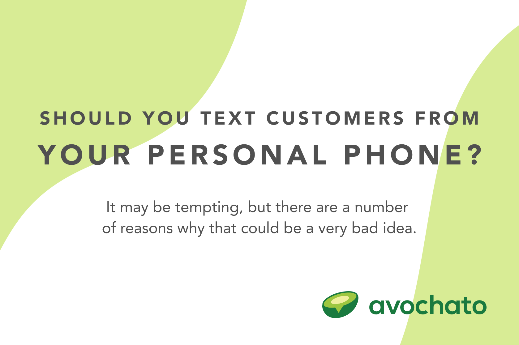 text from personal phones